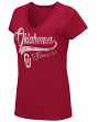 "Oklahoma Sooners Women's NCAA ""How You Doin'"" Dual Blend V-neck T-Shirt"