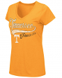 """Tennessee Volunteers Women's NCAA """"How You Doin'"""" Dual Blend V-neck T-Shirt"""