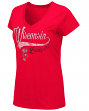 "Wisconsin Badgers Women's NCAA ""How You Doin'"" Dual Blend V-neck T-Shirt"