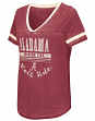 "Alabama Crimson Tide Women's NCAA ""Gunther"" Dual Blend Burn Out T-Shirt"