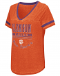 "Clemson Tigers Women's NCAA ""Gunther"" Dual Blend Burn Out T-Shirt"