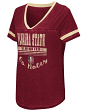 "Florida State Seminoles Women's NCAA ""Gunther"" Dual Blend Burn Out T-Shirt"