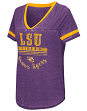 "LSU Tigers Women's NCAA ""Gunther"" Dual Blend Burn Out T-Shirt"
