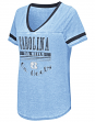 "North Carolina Tarheels Women's NCAA ""Gunther"" Dual Blend Burn Out T-Shirt"