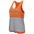 "Miami Hurricanes Women's NCAA ""Red Ross"" Reversible Burn Out Tank Top"