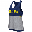 "Michigan Wolverines Women's NCAA ""Red Ross"" Reversible Burn Out Tank Top"