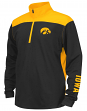 "Iowa Hawkeyes Youth NCAA ""Vault"" 1/4 Zip Pullover Long Sleeve Wind Shirt"
