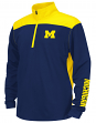 "Michigan Wolverines Youth NCAA ""Vault"" 1/4 Zip Pullover Long Sleeve Wind Shirt"