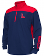 Mississippi Ole Miss Rebels Youth Vault 1/4 Zip Pullover Long Sleeve Wind Shirt