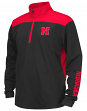 "Nebraska Cornhuskers Youth NCAA ""Vault"" 1/4 Zip Pullover Long Sleeve Wind Shirt"