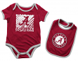 "Alabama Crimson Tide NCAA Infant ""Look at the Baby"" Onesie w/Bib Set"
