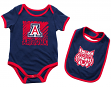 "Arizona Wildcats NCAA Infant ""Look at the Baby"" Onesie w/Bib Set"