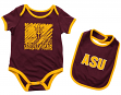 "Arizona State Sun Devils NCAA Infant ""Look at the Baby"" Onesie w/Bib Set"