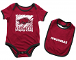 "Arkansas Razorbacks NCAA Infant ""Look at the Baby"" Onesie w/Bib Set"