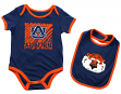 "Auburn Tigers NCAA Infant ""Look at the Baby"" Onesie w/Bib Set"