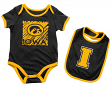 "Iowa Hawkeyes NCAA Infant ""Look at the Baby"" Onesie w/Bib Set"