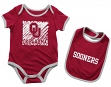 "Oklahoma Sooners NCAA Infant ""Look at the Baby"" Onesie w/Bib Set"