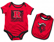 "Rutgers Scarlet Knights NCAA Infant ""Look at the Baby"" Onesie w/Bib Set"