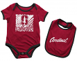 "Stanford Cardinal NCAA Infant ""Look at the Baby"" Onesie w/Bib Set"