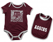 "Texas A&M Aggies NCAA Infant ""Look at the Baby"" Onesie w/Bib Set"