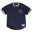 "Dallas Cowboys Mitchell & Ness NFL ""Seasoned Pro"" Men's Button Up Jersey Shirt"