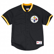 "Pittsburgh Steelers Mitchell & Ness ""Seasoned Pro"" Men's Button Up Jersey Shirt"