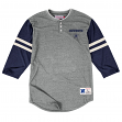 "Dallas Cowboys Mitchell & Ness NFL ""Stretch""  Long Sleeve Tri-blend Henley Shirt"