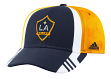 Los Angeles Galaxy Adidas MLS 2017 Authentic Team Structured Adjustable Hat