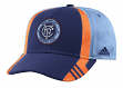 New York City FC Adidas MLS 2017 Authentic Team Structured Adjustable Hat