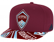 Colorado Rapids Adidas MLS Layered Logo Embroidered Snap Back Hat