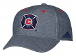 Chicago Fire Adidas MLS Heather Gray Tri-Blend Structured Adjustable Hat