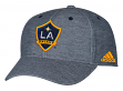 Los Angeles Galaxy Adidas MLS Heather Gray Tri-Blend Structured Adjustable Hat