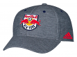 New York Red Bulls Adidas MLS Heather Gray Tri-Blend Structured Adjustable Hat