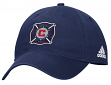 "Chicago Fire Adidas MLS ""Team Basics"" Slouch Adjustable Hat - Navy"