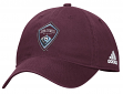 "Colorado Rapids Adidas MLS ""Team Basics"" Slouch Adjustable Hat - Maroon"