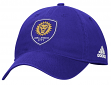"Orlando City SC Adidas MLS ""Team Basics"" Slouch Adjustable Hat - Purple"