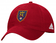 "Real Salt Lake Adidas MLS ""Team Basics"" Slouch Adjustable Hat - Red"