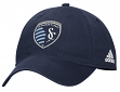 "Sporting Kansas City Adidas MLS ""Team Basics"" Slouch Adjustable Hat - Navy"
