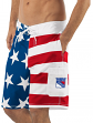 "New York Rangers NHL G-III ""Americana"" Men's Boardshorts Swim Trunks"