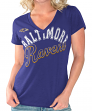 "Baltimore Ravens Women's G-III NFL ""Homefield"" V-neck Slub T-shirt"