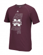 "Mississippi State Bulldogs Adidas NCAA ""Geometric"" Men's Climalite S/S T-Shirt"