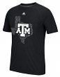 "Texas A&M Aggies Adidas NCAA ""Geometric"" Men's Climalite S/S T-Shirt"
