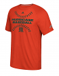 "Miami Hurricanes Adidas NCAA ""Big Stitches"" Men's Climalite S/S T-Shirt"