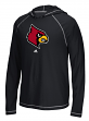 "Louisville Cardinals Adidas NCAA ""School"" Men's L/S Hooded Climalite Shirt"