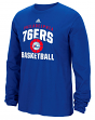 "Philadelphia 76ers Adidas NBA ""Rep Big"" Men's Long Sleeve T-Shirt"