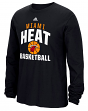 "Miami Heat Adidas NBA ""Rep Big"" Men's Long Sleeve T-Shirt"