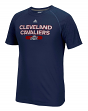 Cleveland Cavaliers Adidas NBA Reflective Authentic Men's Climalite S/S T-Shirt