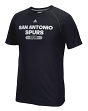 "San Antonio Spurs Adidas NBA ""Reflective Authentic"" Men's Climalite S/S T-Shirt"