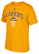 "Los Angeles Lakers Adidas NBA ""Bank Shot"" Men's Short Sleeve T-Shirt"