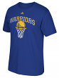 "Golden State Warriors Adidas NBA ""Bank Shot"" Men's Short Sleeve T-Shirt"